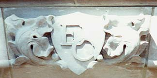 Stone Carved Emblesm and Logos