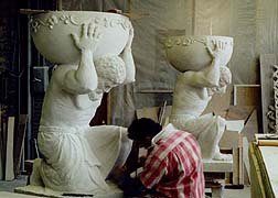 stone sculpture and stone carving