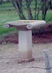 Greek hand carved birdbath