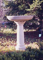 carved stone garden birdbaths