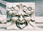 Stone carved Greenman fountain