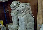 penn state lions animal carving
