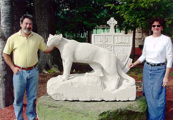 College Misericordia University Cougar Sculpture