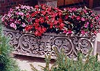 stone carved garden planters