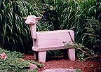 stone carved sheep planter